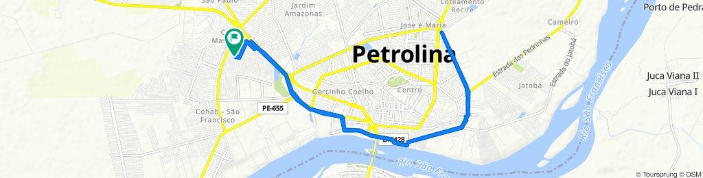De Rua Joaquim Barbosa Silva, 146, Petrolina a Rua Quarenta e Um, 21–199, Petrolina