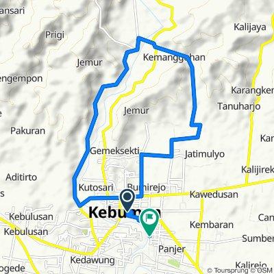 Jalan Veteran 2, Kecamatan Kebumen to Jalan Telasih No.22, Kecamatan Kebumen