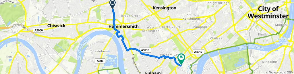 128 Iffley Road, London to 5–63 Michael Road, London