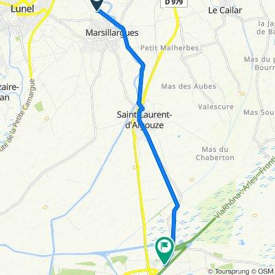 De D34e7, Marsillargues à 474 Route d'Arles, Aigues-Mortes