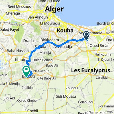 De Rue Moussa CHERIF, El-Harrach à Rue Ali Bouhadja, Birtouta