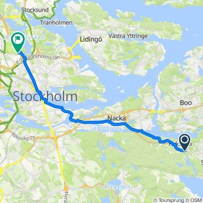 Saltsjöbadsleden, Saltsjöbaden to Uppsalavägen, Solna