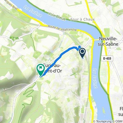 De 6 Avenue Gabriel Péri, Albigny-sur-Saône à 2–24 Rue René Tachon, Curis-au-Mont-d'Or