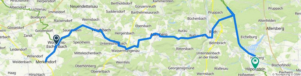 Wolframs Eschenbach bis Hilpoltstein 2020