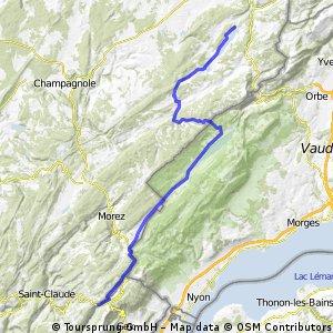 2 Rundtour Le Jura St.Point - Mijoux