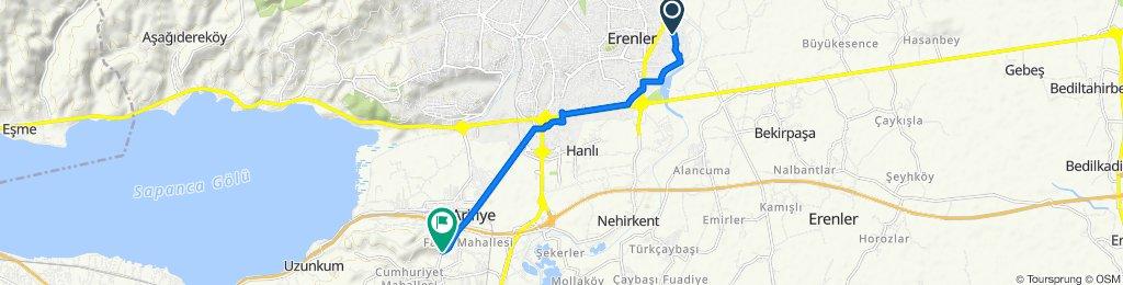 Alev Sokak 34–38, Erenler to Atatürk Caddesi 341, Arifiye