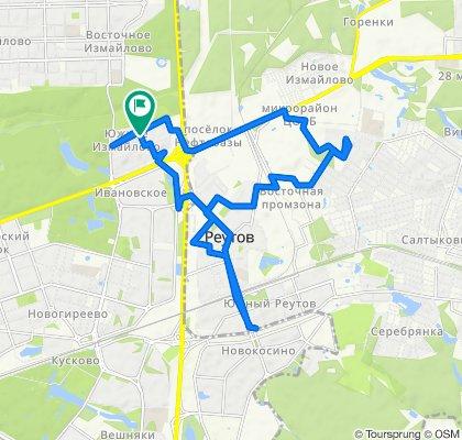 Велоездки Южное Измайлово - Реутов (трижды) + Балашиха +  Южное Измайлово 25 09 2020