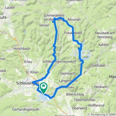 Ratscher See-Schmiedefeld 42Km