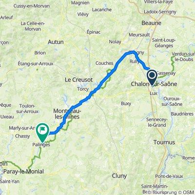 Voyage 2021 Chalon - Palinges - 84,3km 240D+