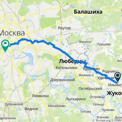 От улица Краснознаменная 24, Ильинский до Канатчиковский проезд 9, Москва