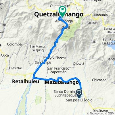 Vuelta a Guatemala inventada etapa 6 San José El Ídolo, Mazatenango, Reu, Xela, final cerró el Baúl