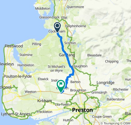 31–55 Main St, Cockerham, Lancaster to Blackleach Farm, Roots Lane, Preston
