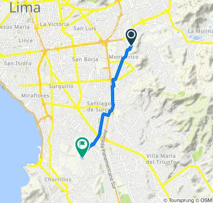 De Avenida Circunvalación del Golf los Incas 949, Santiago de Surco a Calle los Jilgueros 165, Santiago de Surco
