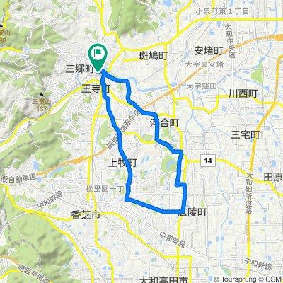 県道156号, Oji-Cho, Kitakatsuragi-Gun to 2, Kudo 2-Chōme, Oji-Cho, Kitakatsuragi-Gun
