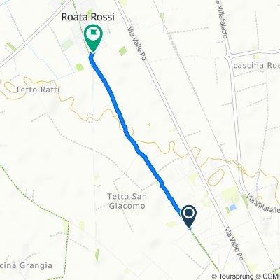 Da Via Ercole Negri di Sanfront 13, Cuneo a Via Antica di Busca 122a, Roata Rossi