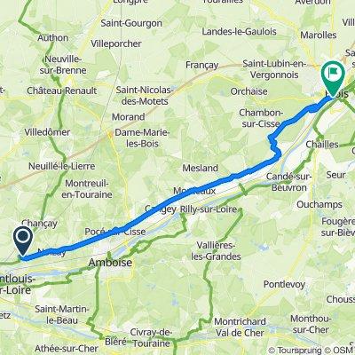 Vernou -> Blois