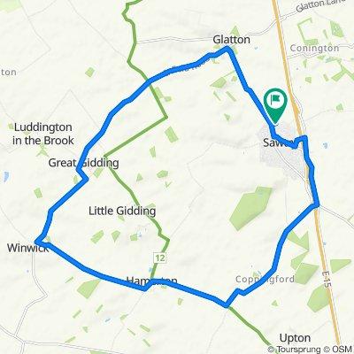 12 Chapman Grove, Huntingdon to 12 Chapman Grove, Huntingdon