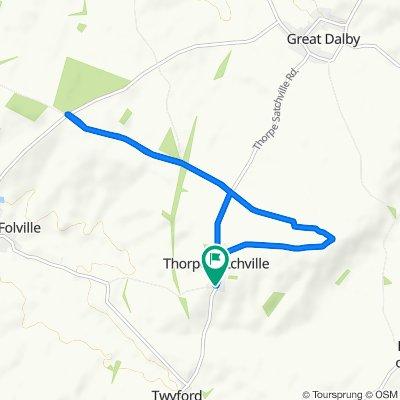 Main Street 27, Thorpe Satchville to The Paddocks 1, Thorpe Satchville