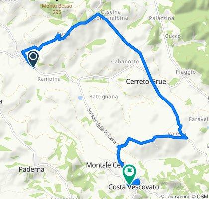 Da Via Costa Vescovato 7, Villaromagnano a Via Montale Celli 19, Costa Vescovato
