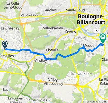 De 40 Rue des Réservoirs, Versailles à 101 Avenue Henri Barbusse, Clamart
