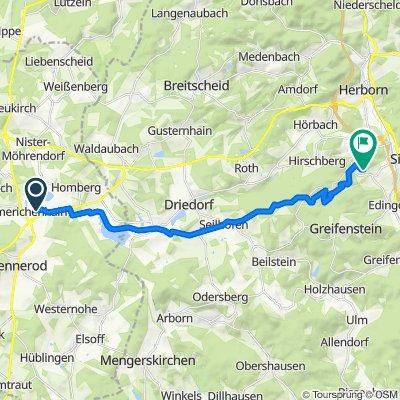 Route nach Merkenbacherweg 8, Sinn
