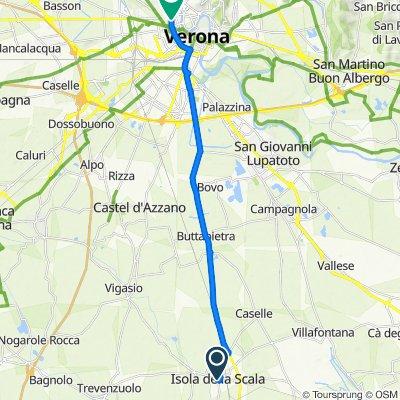 Da Via Cesare Battisti 12, Isola della Scala a Via Lega Veronese, Verona
