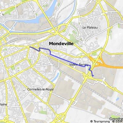 Itineraire pour faire ses courses a Mondeville2