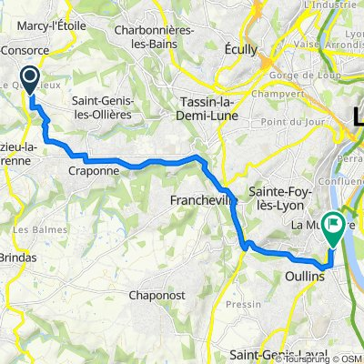 De 58 Rue Marcel Mérieux, Sainte-Consorce à 50 Chemin du Pras, La Mulatière