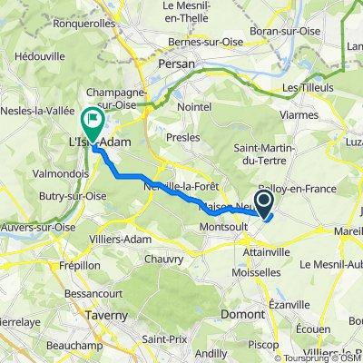 Itinéraire vers 1bis Rue Mellet, L'Isle-Adam
