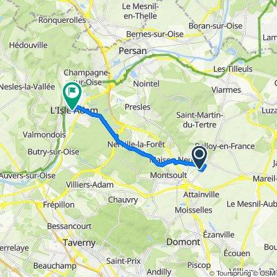 Itinéraire vers 2–12 Rue Saint-Lazare, L'Isle-Adam