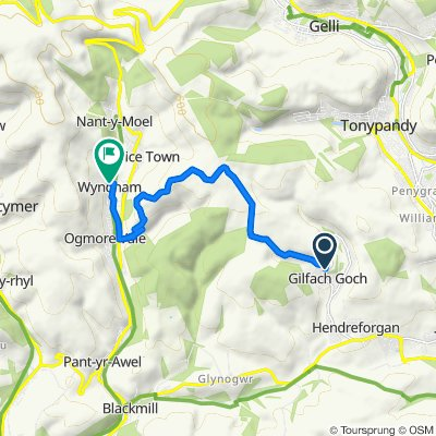 Adare Street 32, Gilfach Goch to Fairy Glen 5, Ogmore Vale