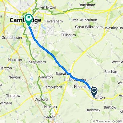 Symonds Lane, Cambridge to Hills Road, Cambridge
