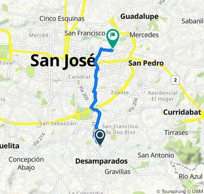 De Avenida 13, Desamparados a Avenida 11 5635, San José