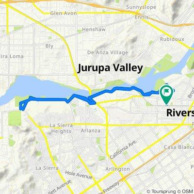 Arden Ln, Riverside to 6313 Sunfield Ct, Riverside