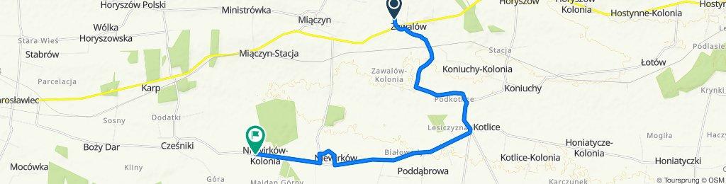 Koncepcja szlaków rowerowych gminy Miaczyn- szlak południowy