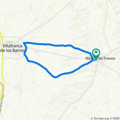 De Calle de Ernesto Che Guevara, 26, Ribera del Fresno a Carretera Villafranca, 26, Ribera del Fresno