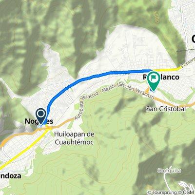 De Avenida Mártires del 14 de Abril, Nogales a Calle Francisco Hernandez, Huiloapan