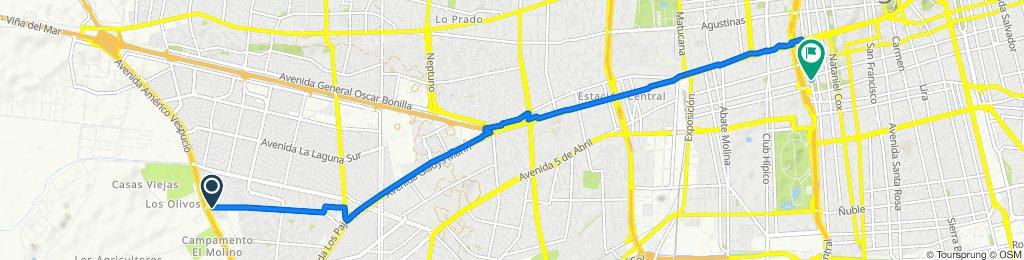 De Avenida El Descanso 1720, Maipú a Dieciocho 369, Santiago