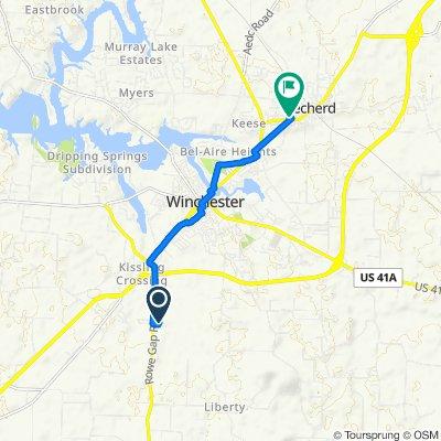 134 Susie Dr, Winchester to 101–199 Eighth Ave N, Decherd