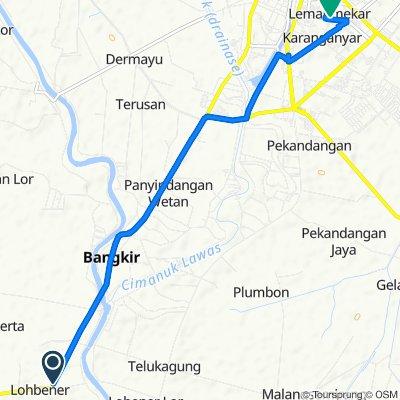 Jalan Lohbener 10, Kecamatan Indramayu to Jalan Olahraga 72, Kecamatan Indramayu