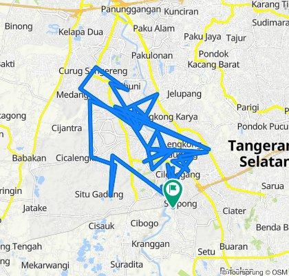 Jalan Raya Serpong 90, Kecamatan Serpong to Jalan Kavling Serpong 26, Kecamatan Serpong