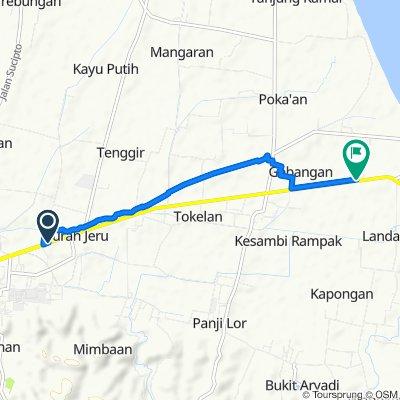 Jalan Basuki Rahmat No.160, Kecamatan Panji to Jalan Banyuwangi, Kecamatan Kapongan