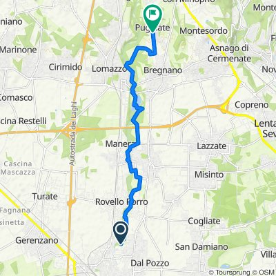 Ciclabile lura - da Parco Lura, Saronno a Via dei Guastelli 1, Puginate
