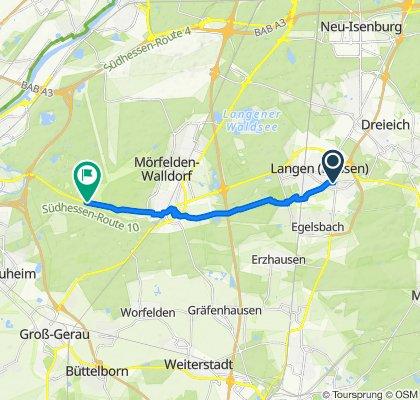Leukertsweg 18, Langen (Hessen) nach Mönchbruch 2A, Mörfelden-Walldorf