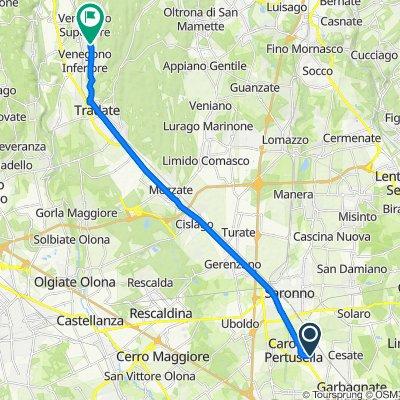 Da Via 4 Novembre 424, Caronno Pertusella a Via Giulio Cesare, Venegono Superiore