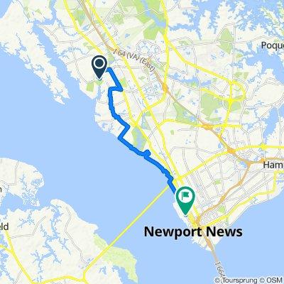 171 Pine Bluff Dr, Newport News to 4507–4599 Washington Ave, Newport News