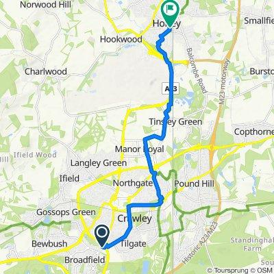 Crawley Avenue, Crawley to 32 Victoria Road, Horley
