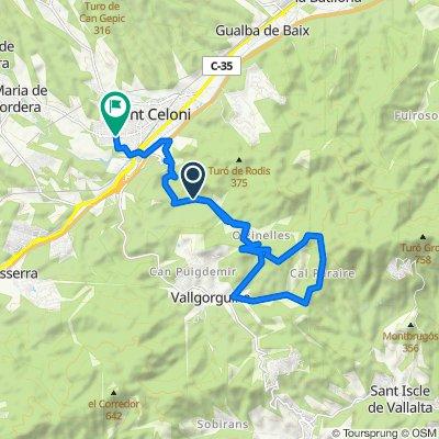 De Carretera de Olzinelles, San Celoni a Avenida de la Paz, 79, San Celoni