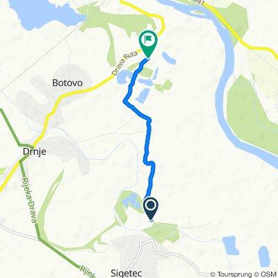 Route from Starogradska 2, Peteranec