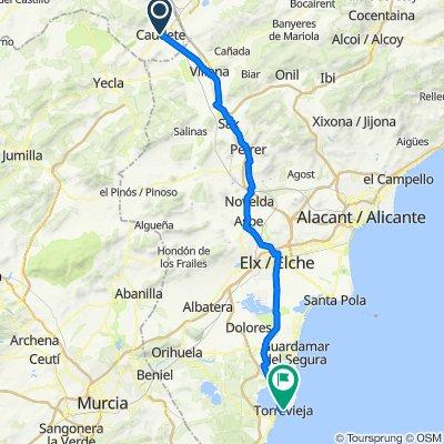 Dag 26 Caudete, Albacete, Spain - Torrevieja